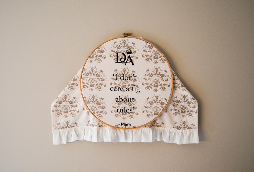 Tea Towel Hoop Art