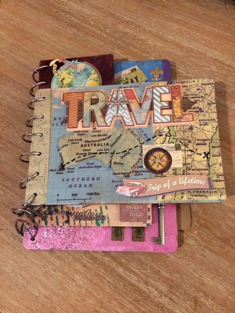 Mixed Media Travel Board Book