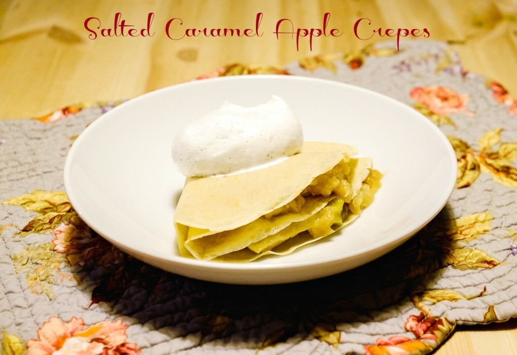 Salted Caramel Apple Crepes