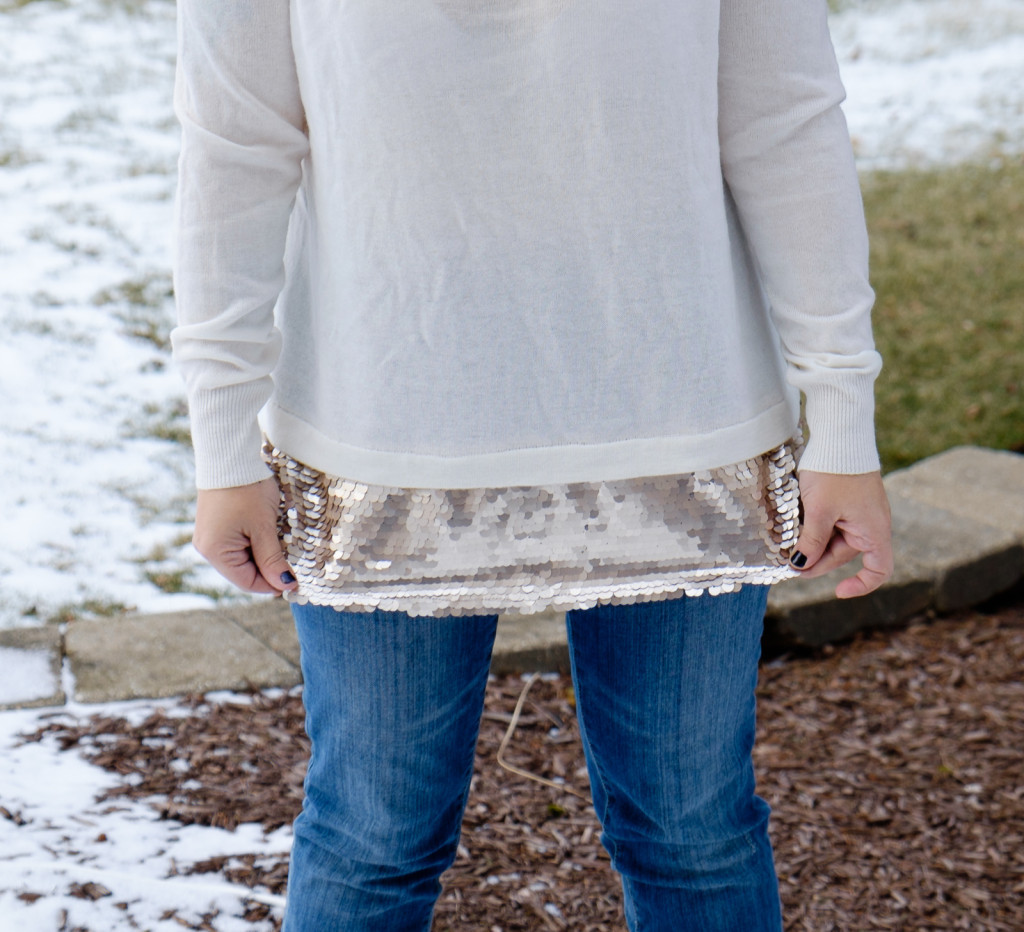 Gambino Sequin Detail Pullover Sweater