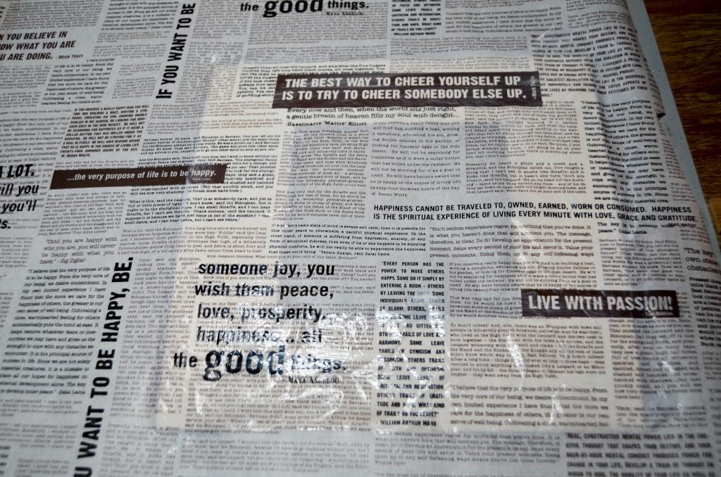 decoupage the paper