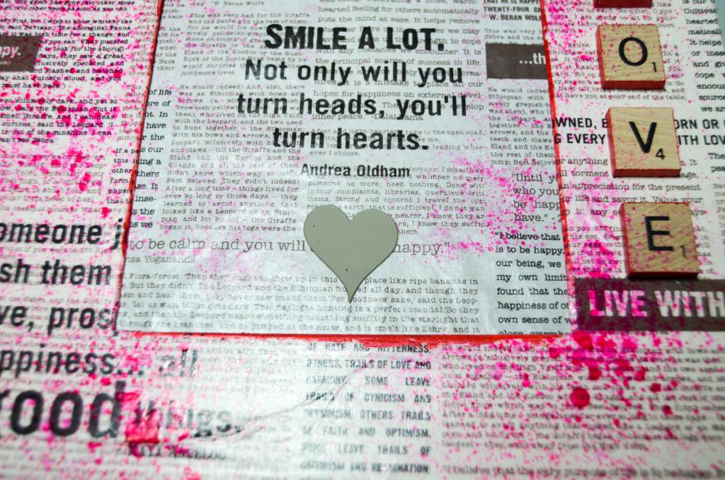 heart stencil mask