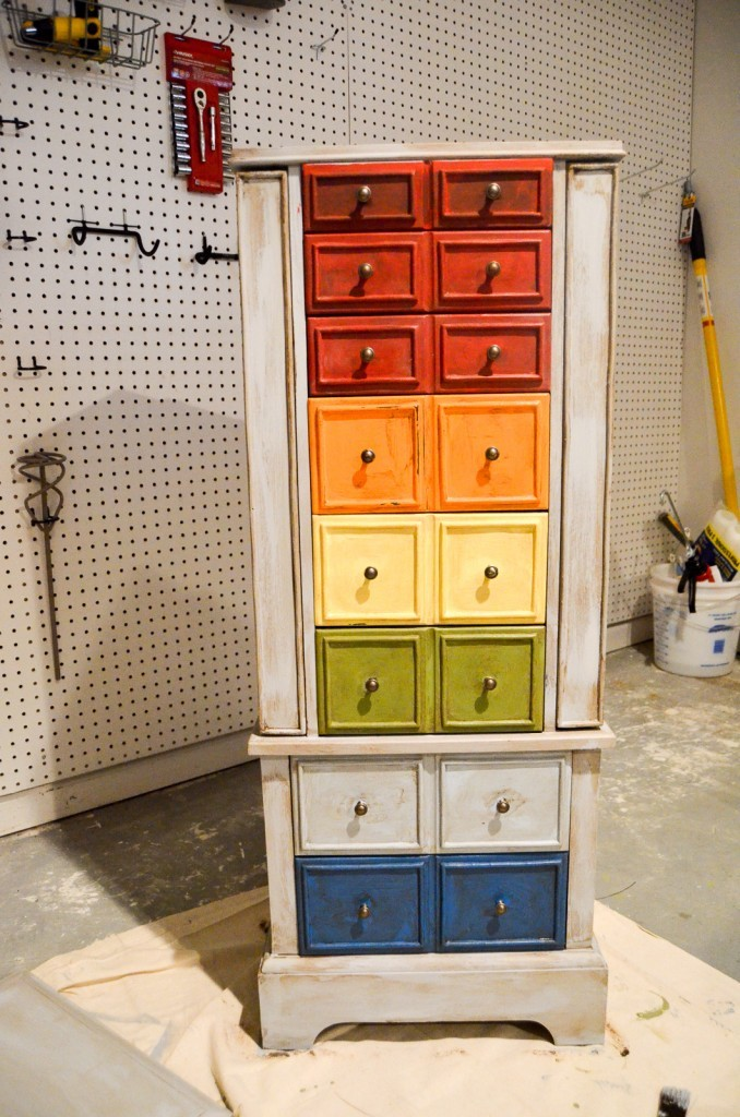 Rustic Rainbow Jewelry Chest