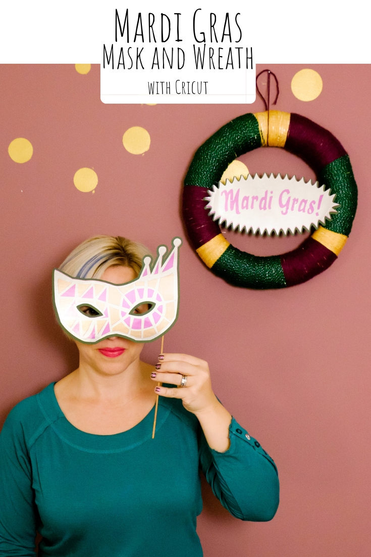 Mardi Gras Photo Booth with Cricut