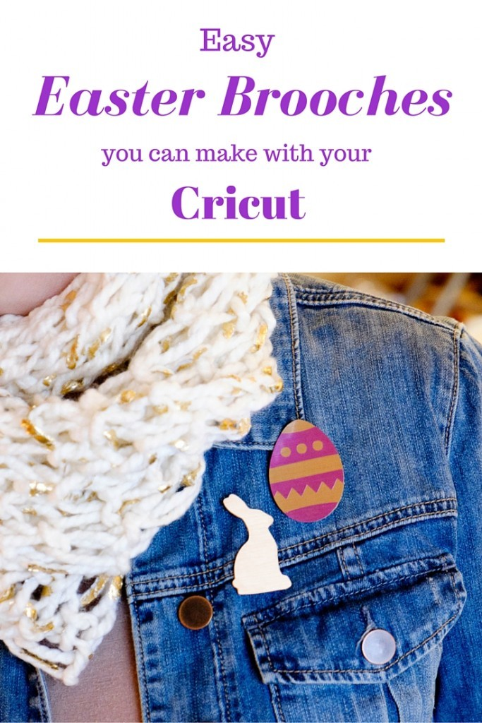 Easy Easter Brooches you can make with your Cricut