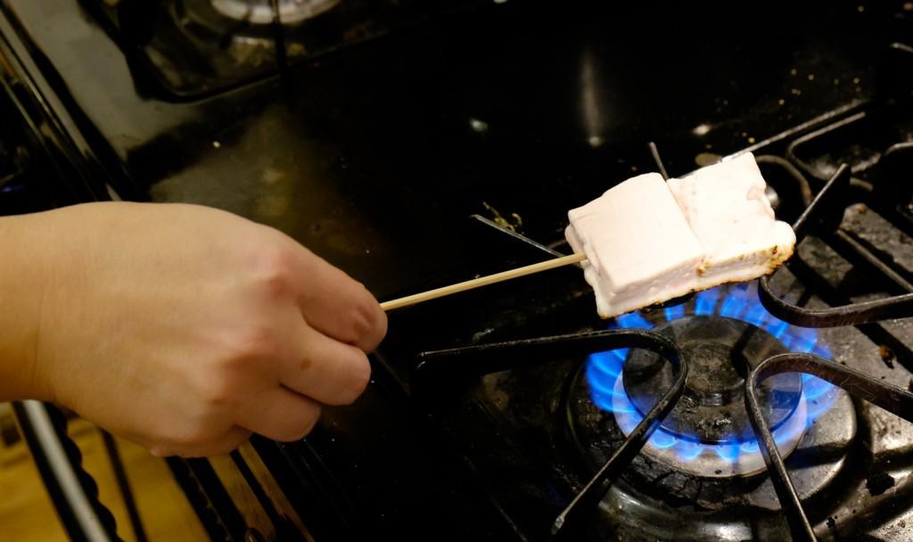 roast the marshmallows
