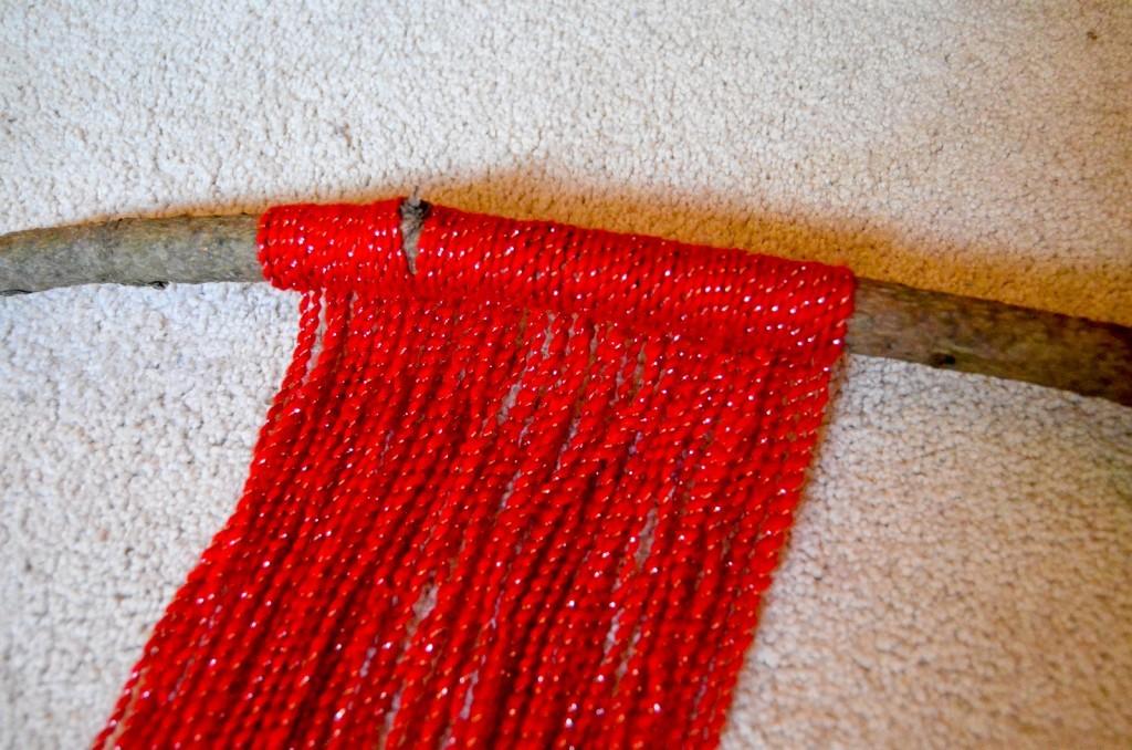 row of yarn