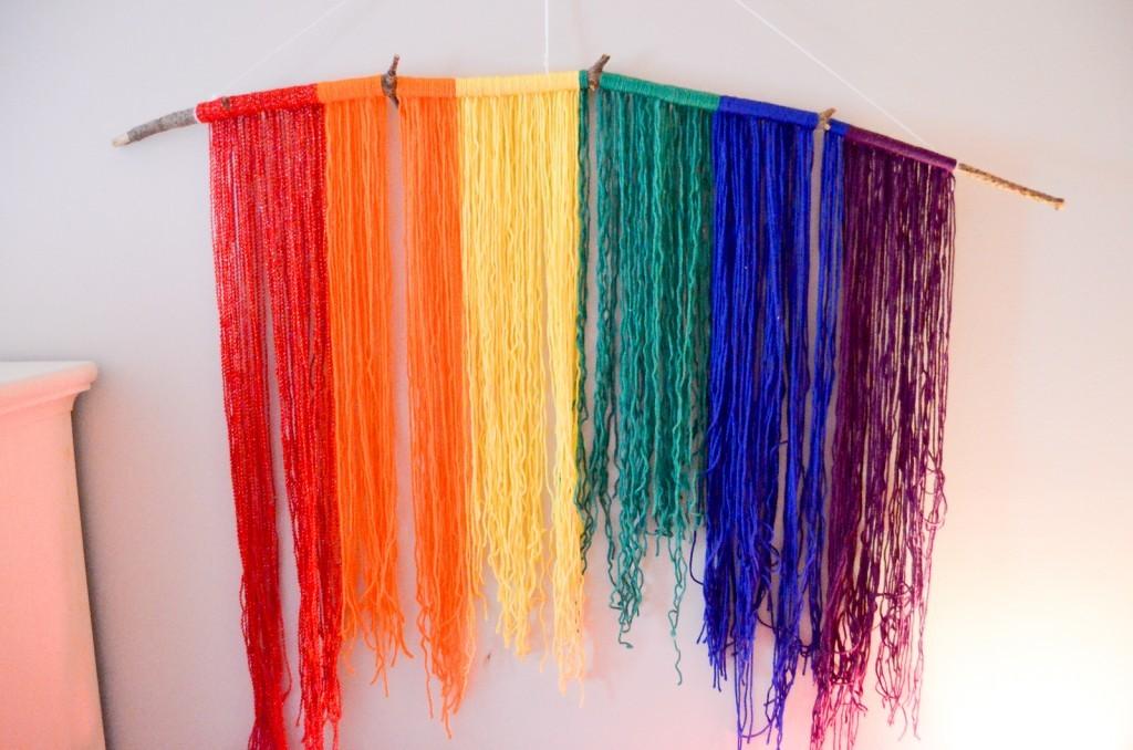 Rainbow Yarn Hanging