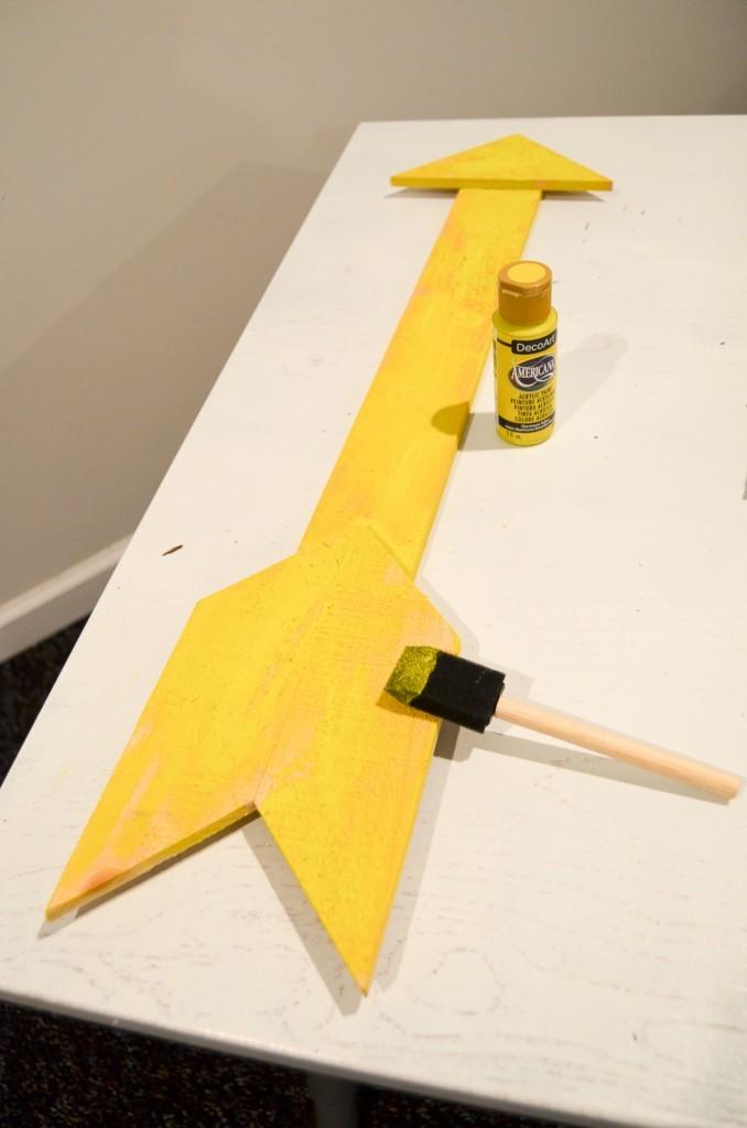 paint the arrow
