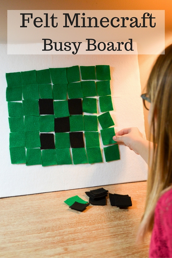 Felt Minecraft Busy Board