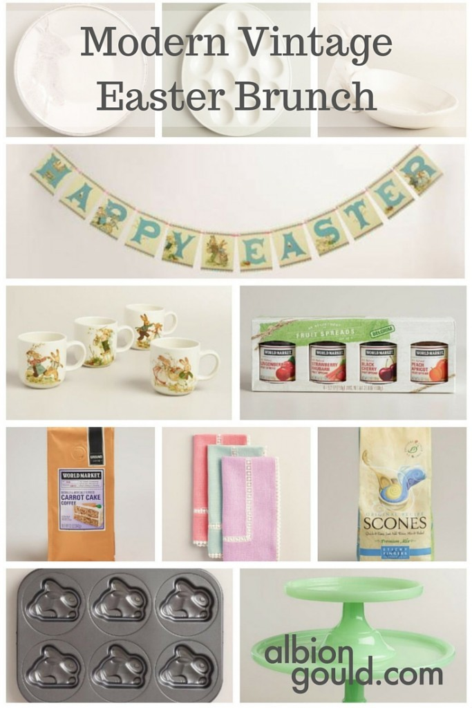 Create a fun Modern Vintage Easter Brunch with World Market! #WorldMarketTribe