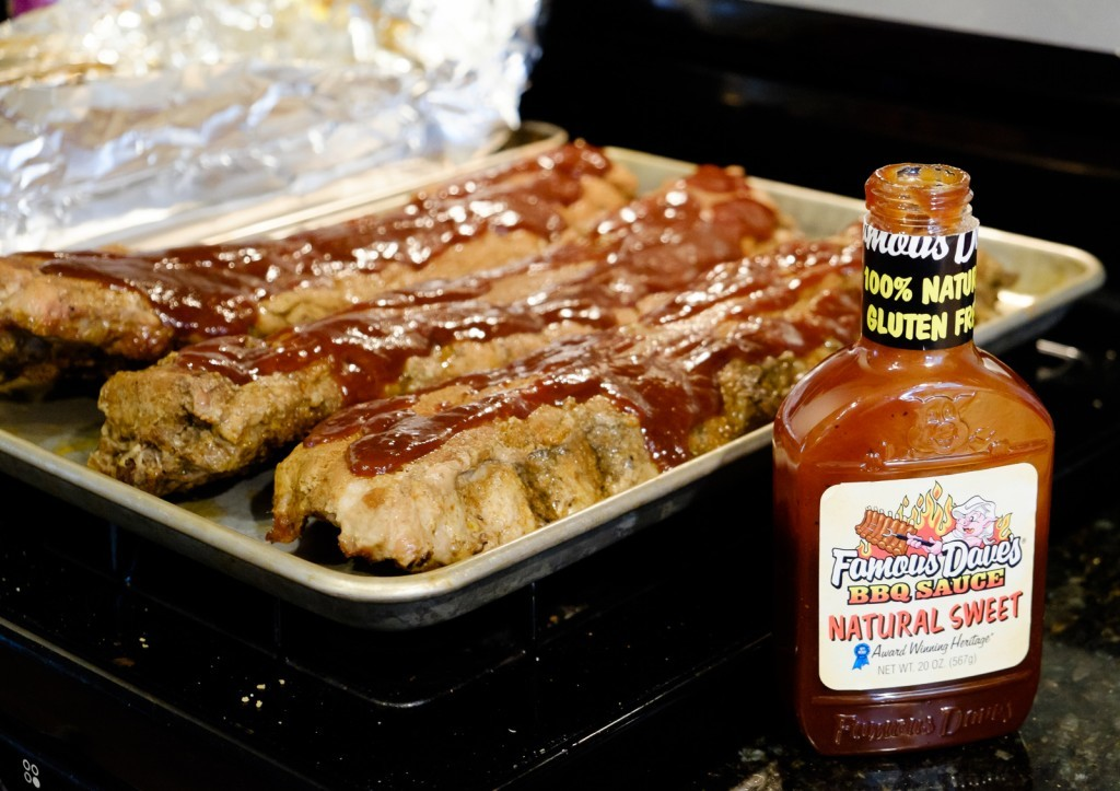 add your favorite BBQ sauce