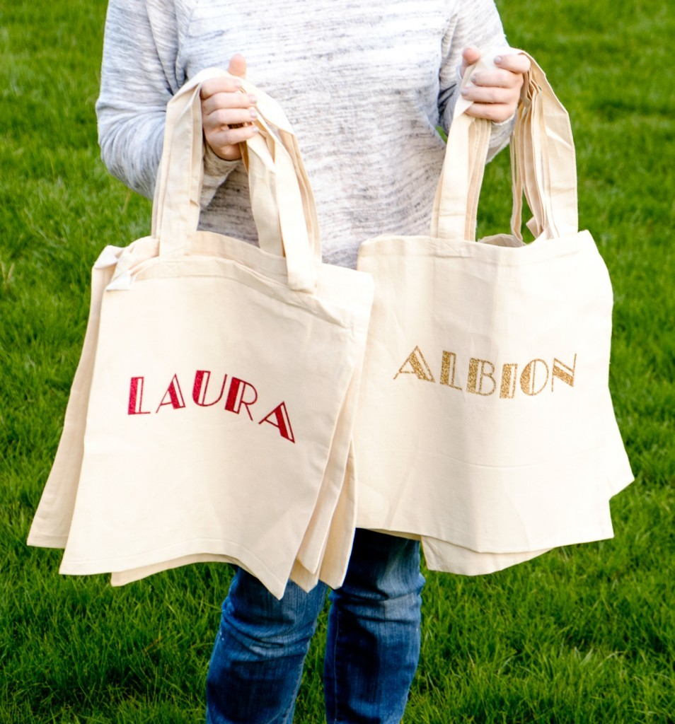 Easy Personalized Canvas Totes