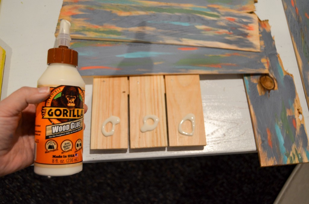 glue the boards on