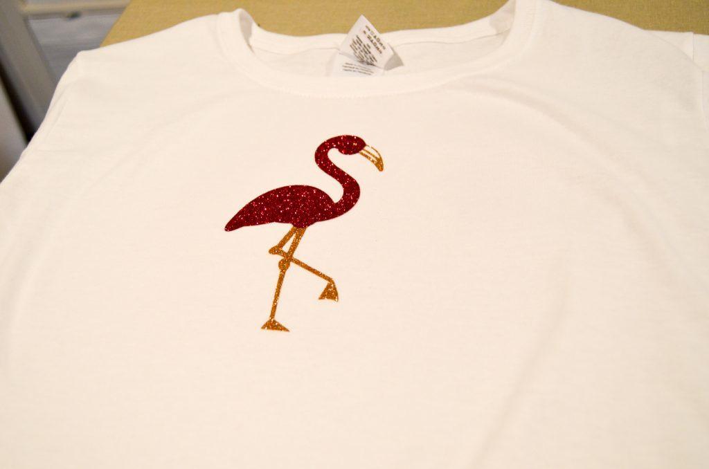 flamingo ironed on