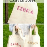 Easy Personalized Canvas Tote Bags