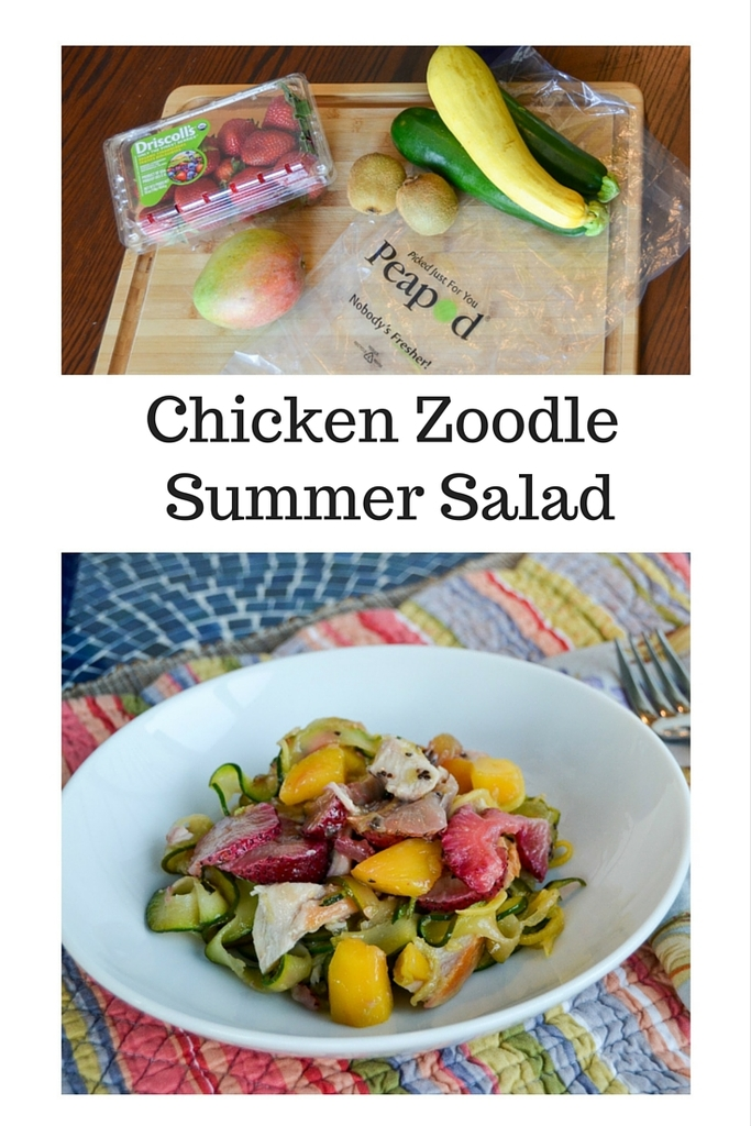 Chicken Zoodle Summer Salad