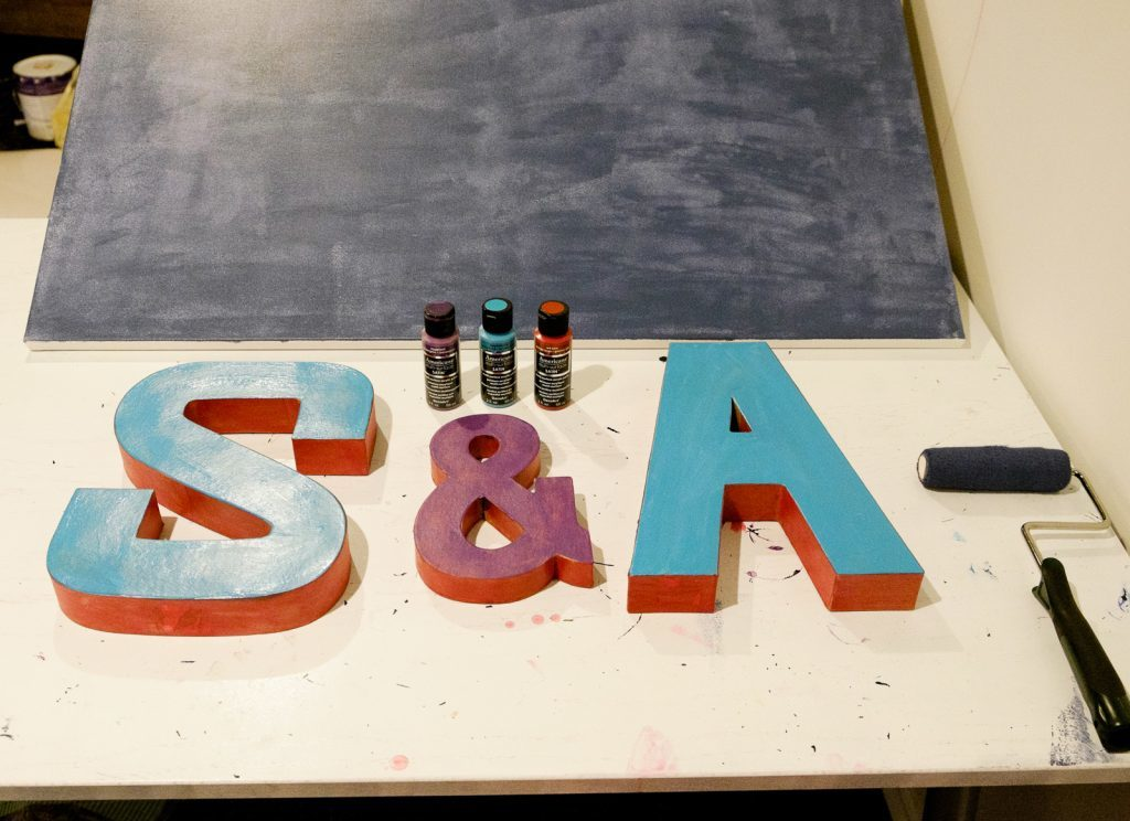 paint the initials
