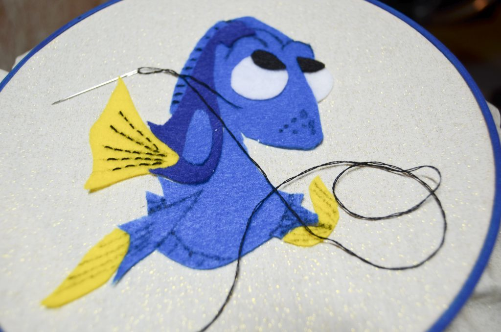 stitch in details