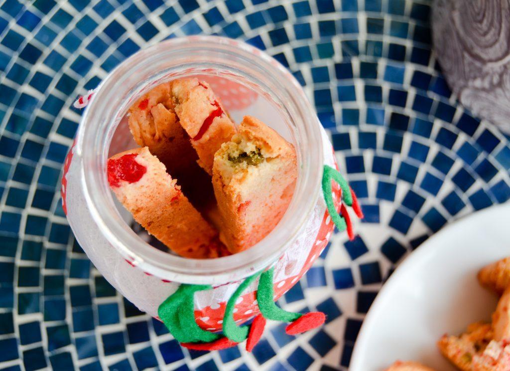 Biscotti and Cherry Mason Jar