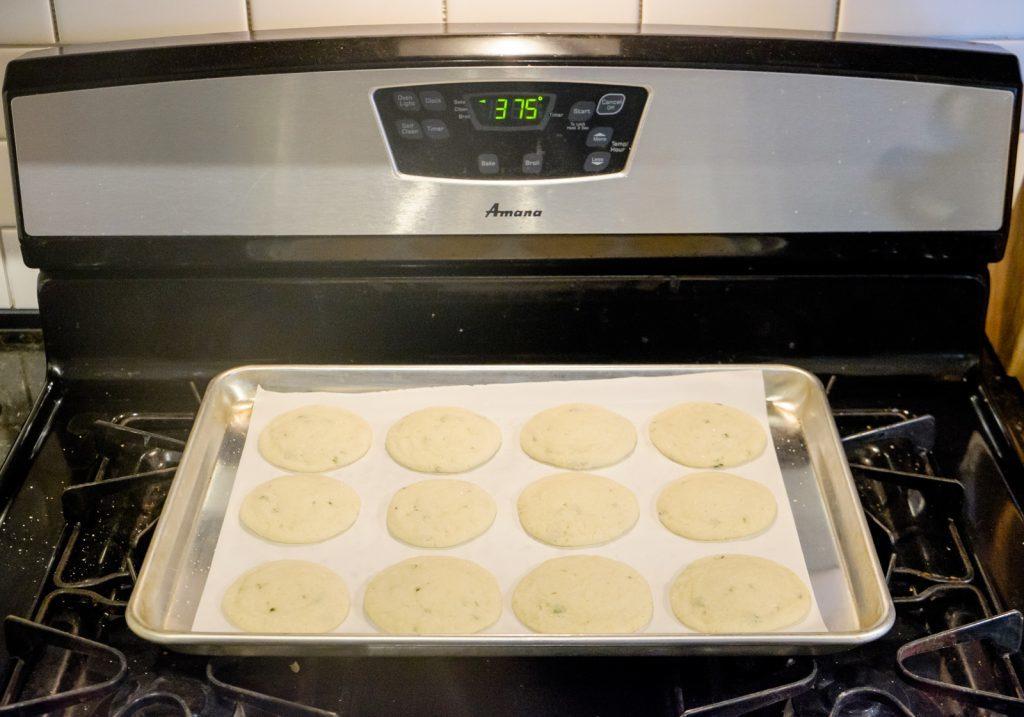 Lemon Basil Sugar Cookies