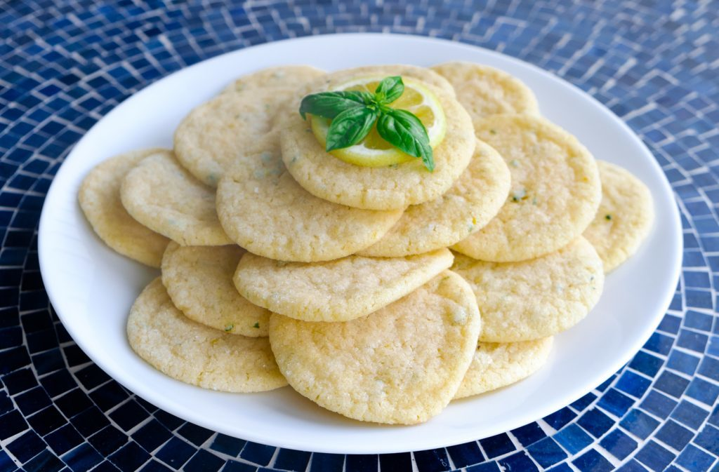 Lemon Basil Sugar Cookies