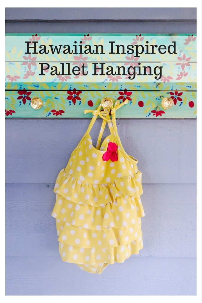Hawaiian Inspired Pallet Hanging