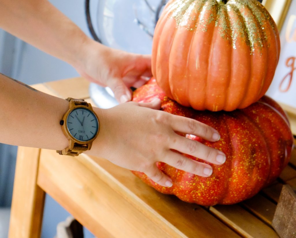 add some pumpkins to your decor
