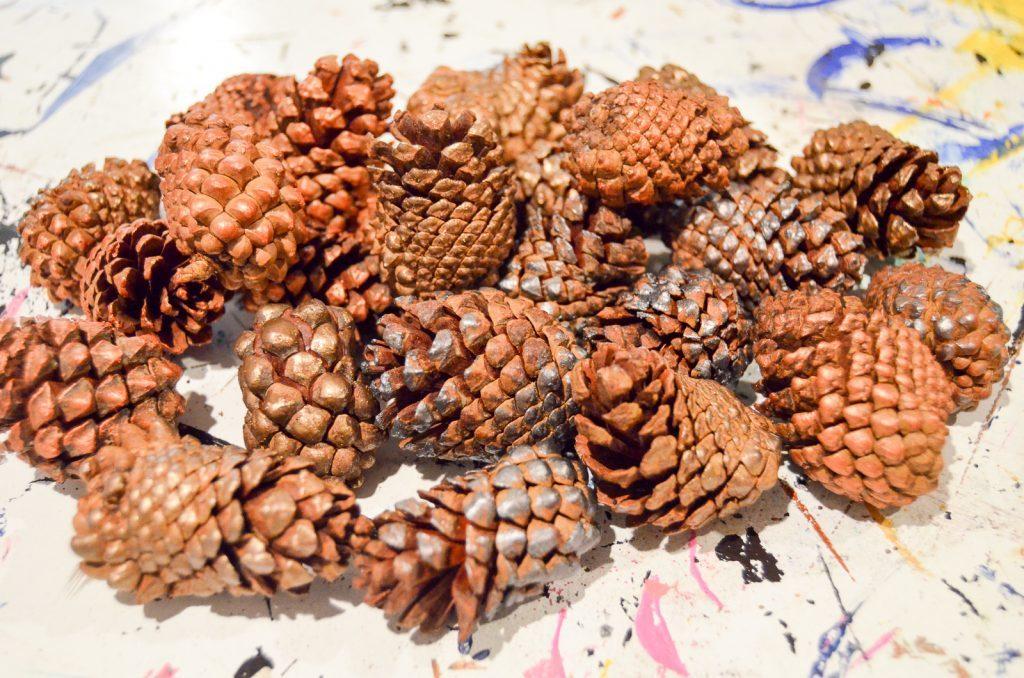 metallic acorns
