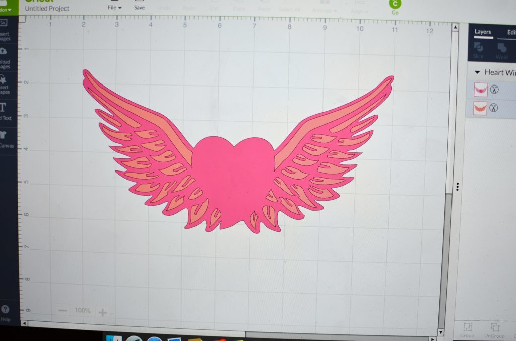 hear and wings design