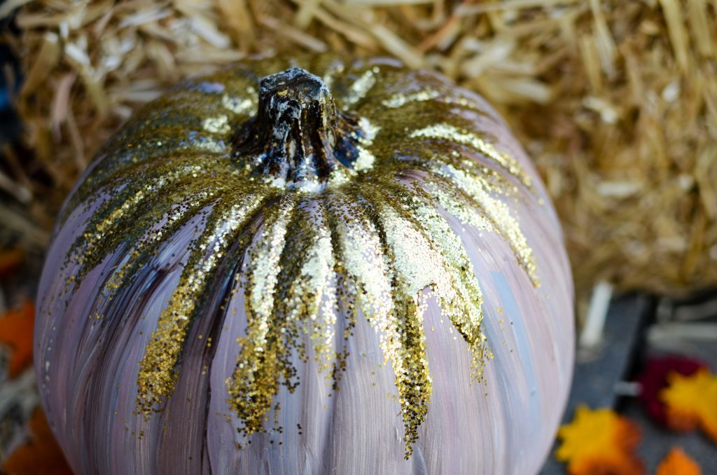 Rustic Glitter Woodland Pumpkins