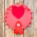 Breast Cancer Awareness Hoop Art
