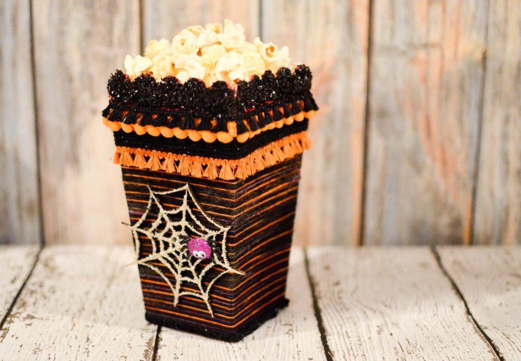 Yarn Wrapped Popcorn Box