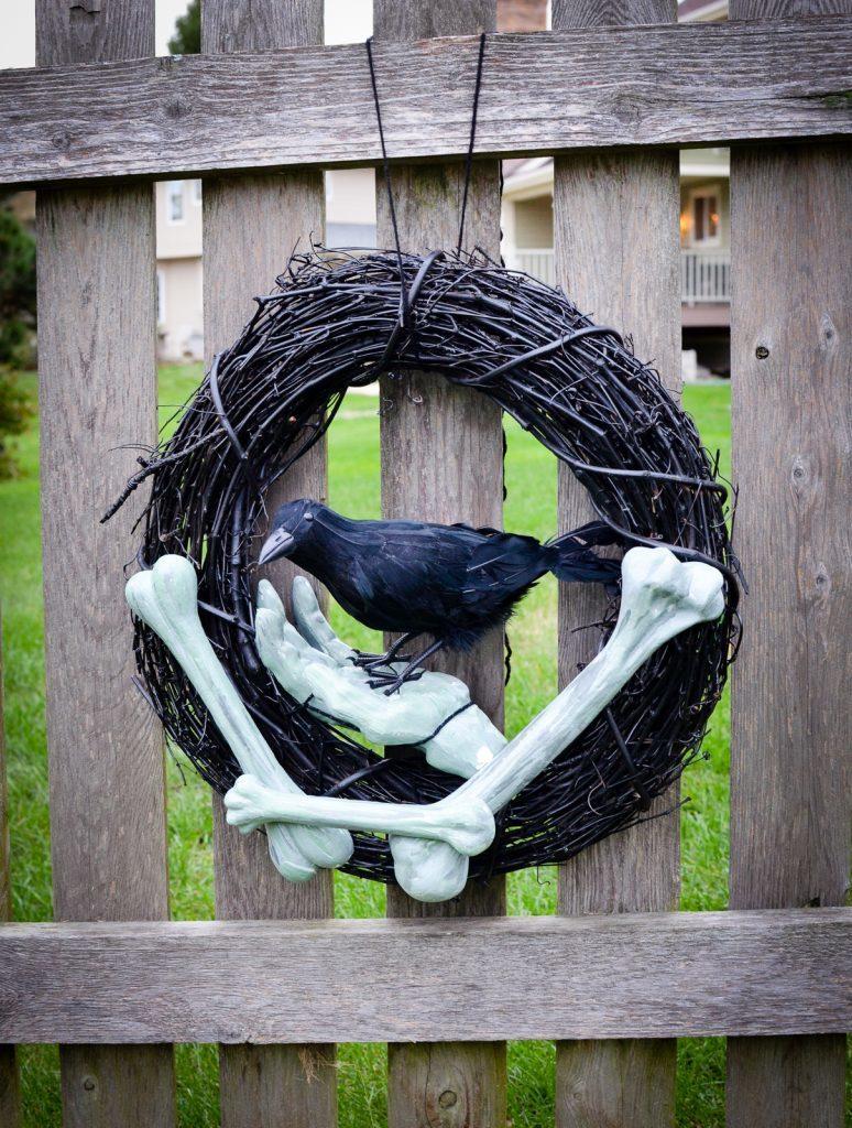 Zombie Raven Wreath