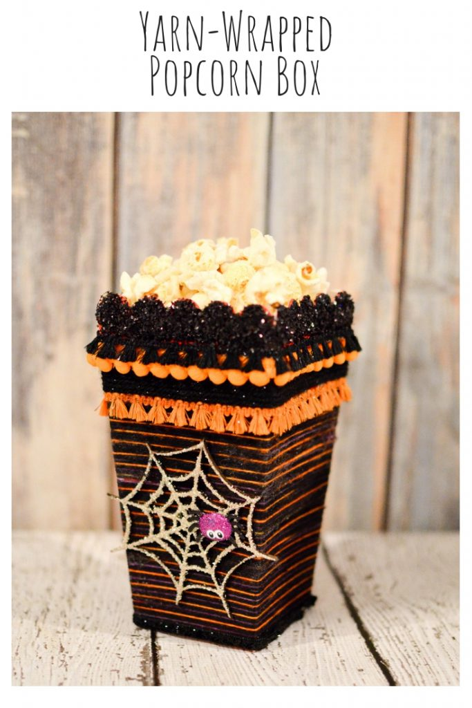 Yarn-Wrapped Popcorn Box