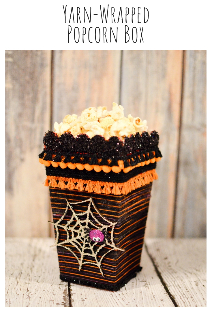 Yarn-Wrapped Popcorn Box