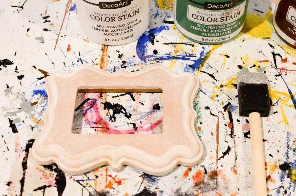 stain the frame white
