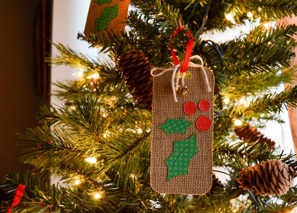 Burlap and Holly Gift Tags