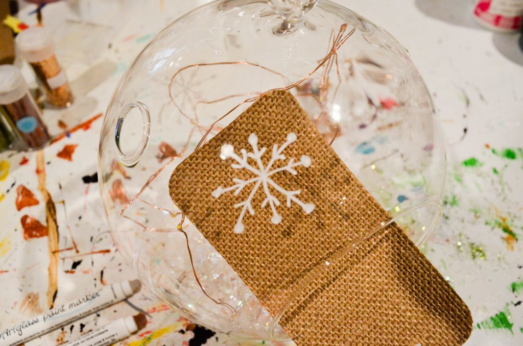 paint snowflakes on glass