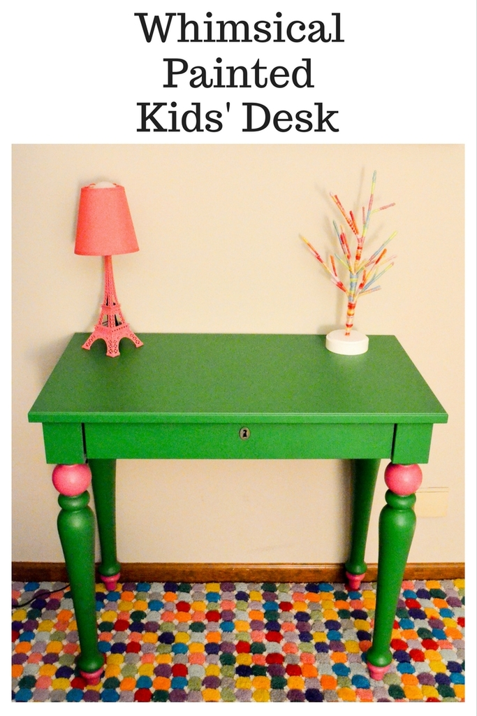 Whimsical Painted Kids Desk