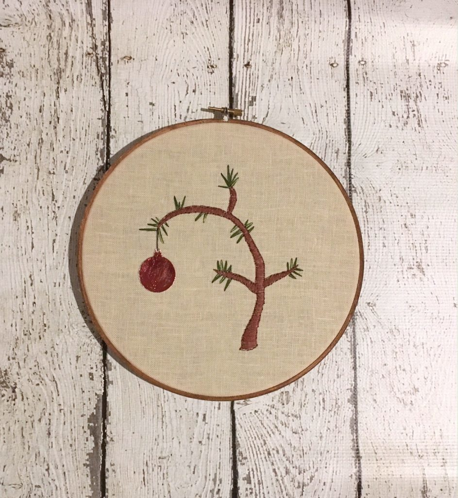 Charlie Brown Christmas Tree Hoop Art