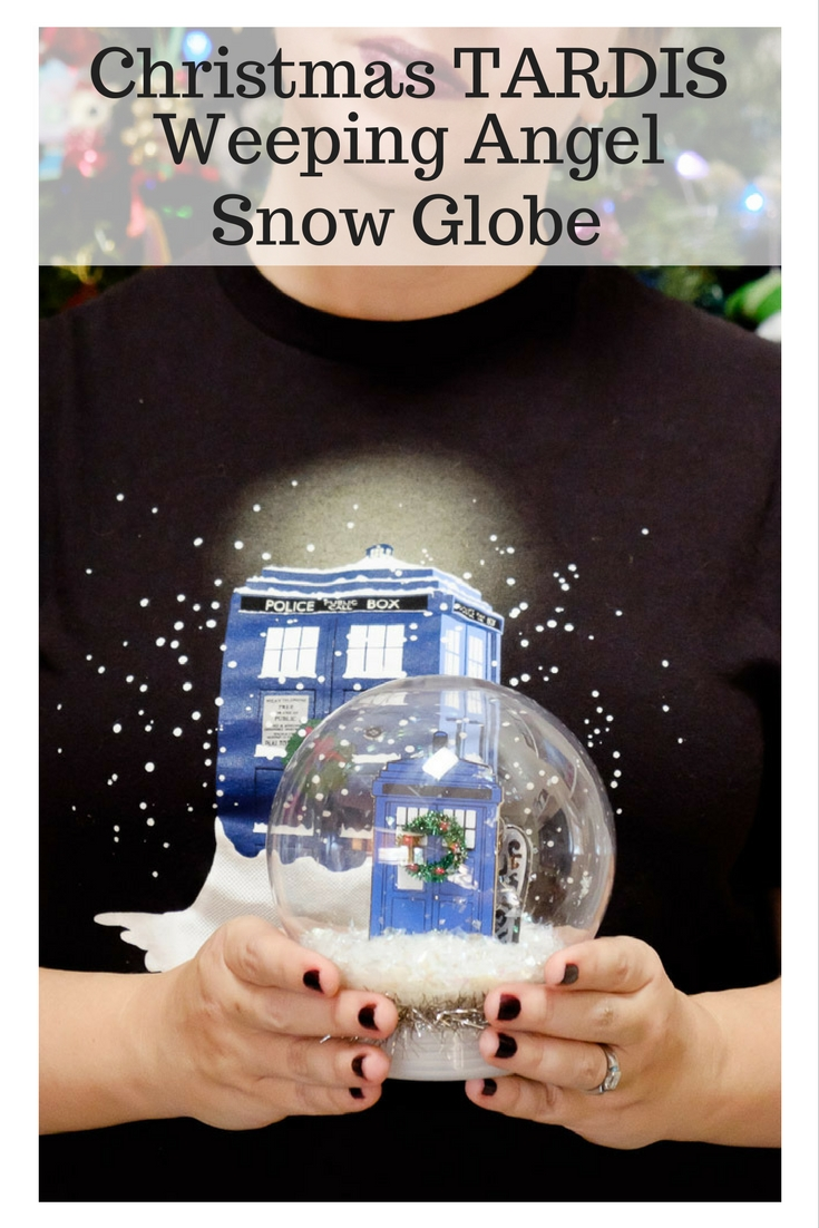 Christmas TARDIS Weeping Angel Snow Globe
