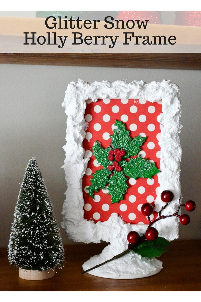 Glitter Snow Holly Berry Frame