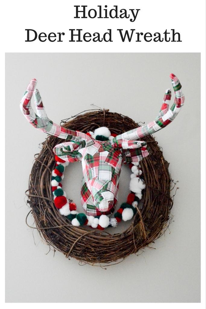 Holiday Deer Head Wreath