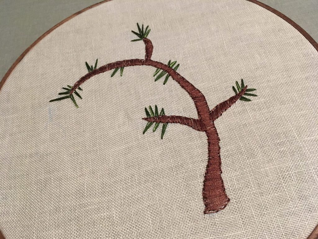 finish stitching the tree