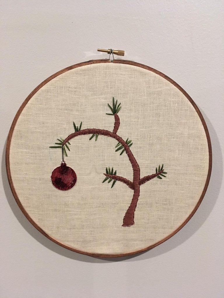 Charlie Brown Christmas Tree Hoop Art