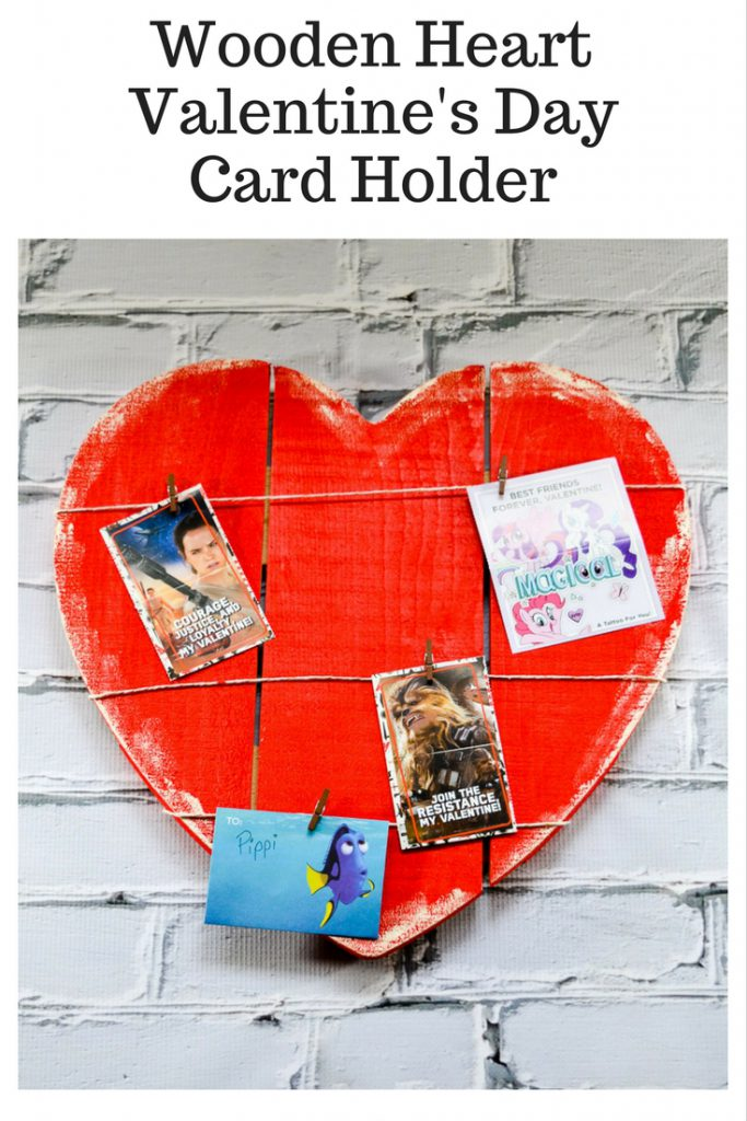 Wooden Heart Valentine's Day Card Holder