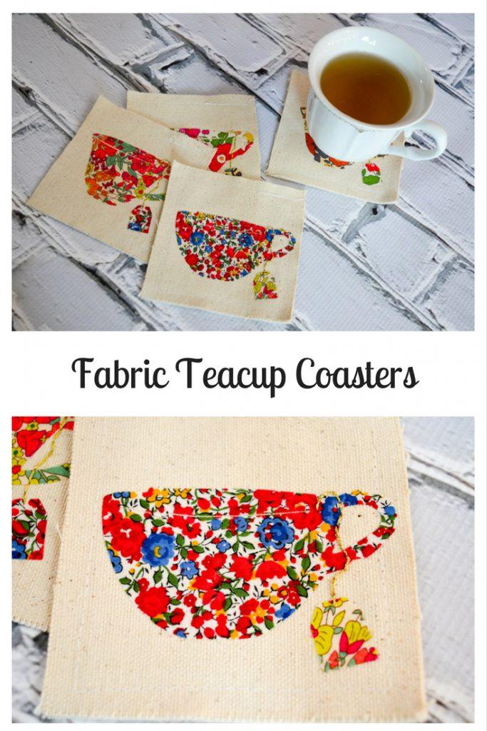 Fabric Teacup Coasters