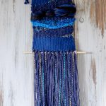 Blue Medley Yarn Weaving