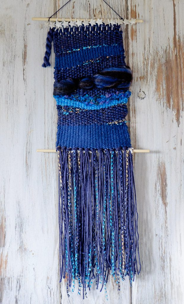 Blue Medley Yarn Weaving